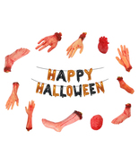 Horror Props Bloody Hand Haunted House Scary Fake Hand Finger Heart Hall... - $5.60+