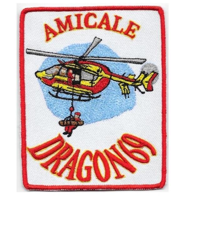 France securite civile dragon 69 amicale ministere de l interieure 4.75 x 3.75 in 9.99