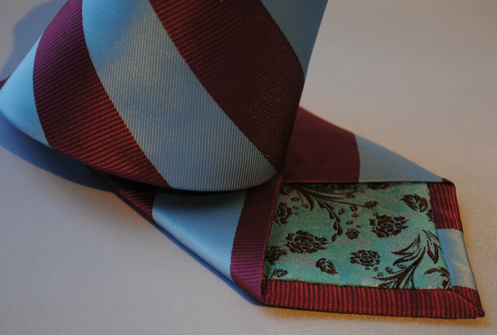 Claret & Light Blue Barber Striped Mens Tie FT627 West Ham Football Club FC