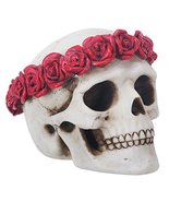 4.5 Inch Day of The Dead Flower Traditional Sugar Skull Display Statue - $12.86