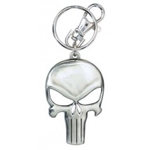 Marvel Comics The Punisher Skull Logo Pewter Key Ring Key Chain NEW UNUSED - $8.79