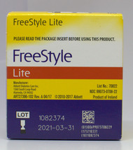 Freestyle Lite Blood Glucose Diabetic Test Strips 50 ct exp 03/31/21 - $22.76