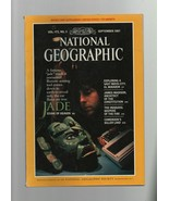 National Geographic - September 1987 - Jade, El Mirador, James Madison, ... - $1.47