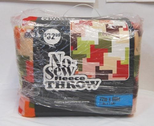No-Sew Fleece Throw 100 Percent Polyester 72 Inch Long Blanket