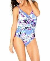 Calvin Klein Women's One Piece Swimsuit Shirred Floral Print Size 6 $98 - $34.64