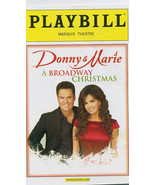 DONNY & MARIE A BROADWAY CHRISTMAS PLAYBILL-Collectible - $2.47