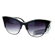 Vintage Retro Fashion Sunglasses Womens Half Rim Look Cateye UV 400 - $9.95