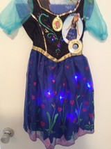 "Disney ""Frozen"" Anna Musical Singing Light-Up Dress Size 4-6x NWT - $39.55"
