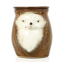 "Hosley 5"" High Brown Woodland Animal Ceramic Electric Oil Warmer. Ideal Gift for"