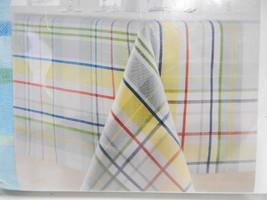 "Food Network Woven CLOTH Tablecloth Blue Yellow Red Farm Fresh Plaid 70""... - $24.74"
