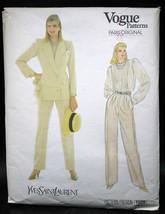 Vogue Patterns #1029 Paris Original Yves Saint Laurent Pant Suit - size 14 - $20.72