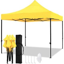 TopCamp 10x10ft Pop up Canopy Tent, Shade for Beach Heavy Duty Waterproo... - $126.58