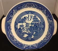 Royal China Blue Willow Ware Cake Plate w/ Handles - $9.75