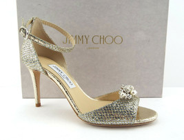 New Jimmy Choo Size 7.5 Tori D'orsay Gold Silver Lag Heel Pumps Charms Shoes 38 - $459.00