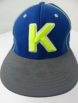 Letter K Kanakuk Blue Fitted S/M Adult Baseball Ball Cap Hat - $12.86