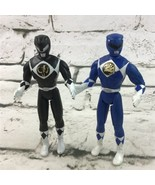 Vintage 1995 Mighty Morphin Power Rangers Black And Blue Action Figures ... - $14.84