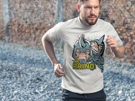 Rhino Crack Dri Fit graphic Tshirt moisture wicking Marvel comic book Sun Shirt image 3