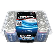 RAYOVAC 814-12PPJ Alkaline Batteries Reclosable Pro Pack (C, 12 pk) - $33.08