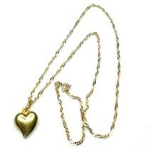 F89 Gold chain 16 inch heart pendant 14k - $247.45