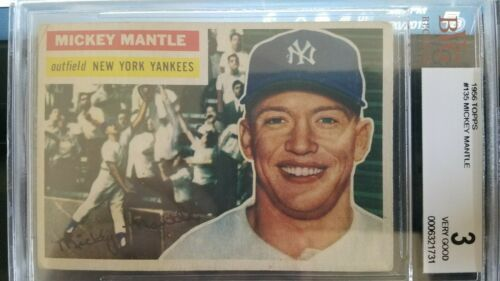 1956 Topps Mickey Mantle New York Yankees And 50 Similar Items
