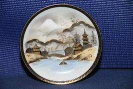 "Vintage hand painted KUTANI China MT FUJI JAPAN 5-1/2"" saucer - $11.60"
