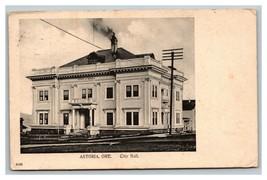 Vintage Early 1900's Photo Postcard City Hall Astoria Oregon POSTED - $20.76