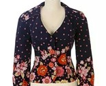 RARE Anthropologie Elevenses Moonlit Petunia Jacket Blazer Top Coat Size 0 EUC