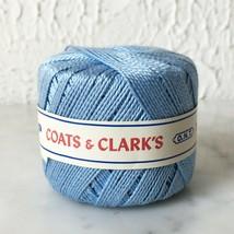 Vintage Coats & Clark's Pearl Cotton Crochet Thread Size 5 - Lt. Blue 50... - $9.45