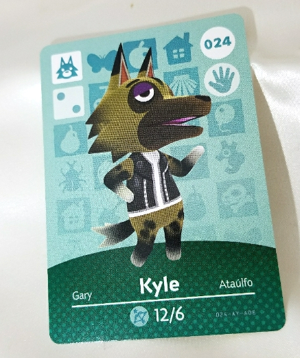 024 - Kyle - Series 1 Animal Crossing Amiibo Card
