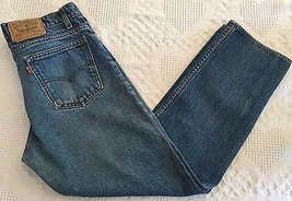 LEVI'S 506 Men's Orange Tab Straight Leg VTG Jeans (Tag 34 x 32) Actual 33 x 30 - $23.95