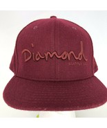 Diamond Supply Co New Era Fitted Hat Skate Cap Burgundy Trucker Sz 8 Woo... - $29.69