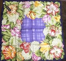 GUCCI Scarf Scarves Stole Silk 100% Floral Flower Print Women Luxury Aut... - $252.14