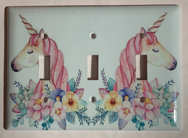 Unicorn Flower Light Switch Outlet Toggle & more Wall Cover Plate for Home decor image 7