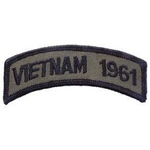 Vietnam 1961 Od Subdued Shoulder Rocker Tab Embroidered Military Patch - $13.53