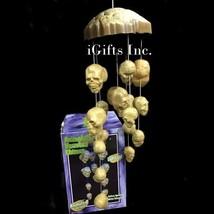 Animated Lighted Skull & Bones Haunted Windchime Scary Halloween Prop - B/O - €28,43 EUR