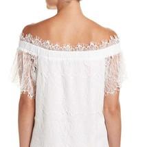 On Twelth Women White Off Shoulder Lace Shift Dress image 4