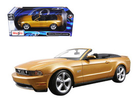 2010 Ford Mustang Convertible Gold 1/18 Diecast Model Car by Maisto - $65.99
