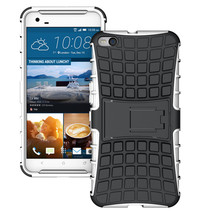 Duty Dual Layer Hybrid Shockproof Protective Cover Case for HTC One X9 - White  - $4.99