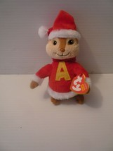 Ty Beanie Baby Alvin the Chipmunk in Santa Suit 2011 Mint with Tags Reti... - $15.84