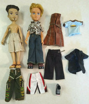 Lot of 2 Bratz Boys Male Dolls plus Outfits, Clothes, Shoes, Feet - $28.99