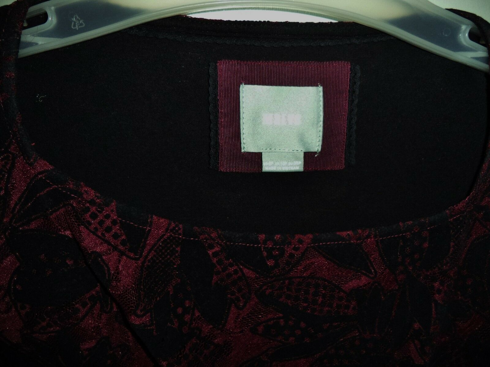 MAEVE ANTHROPOLOGIE Plum & Black Ruched Side Short Sleeve Stretch DRESS 6P