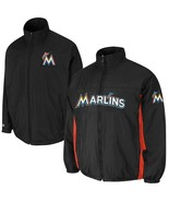 Mens Majestic Black Miami Marlins Triple Climate 3-In-1 On-Field Jacket ... - $89.99