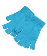 Sky Blue 2 Pair Unisex Soft Half Finger Gloves Warm Knitted Mittens Fing... - $14.00