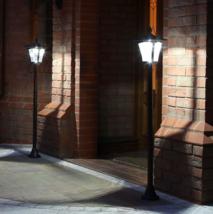 Black Solar Security Lamp Post, Warm White LEDs, 1.2m, 2 Pack - $120.18