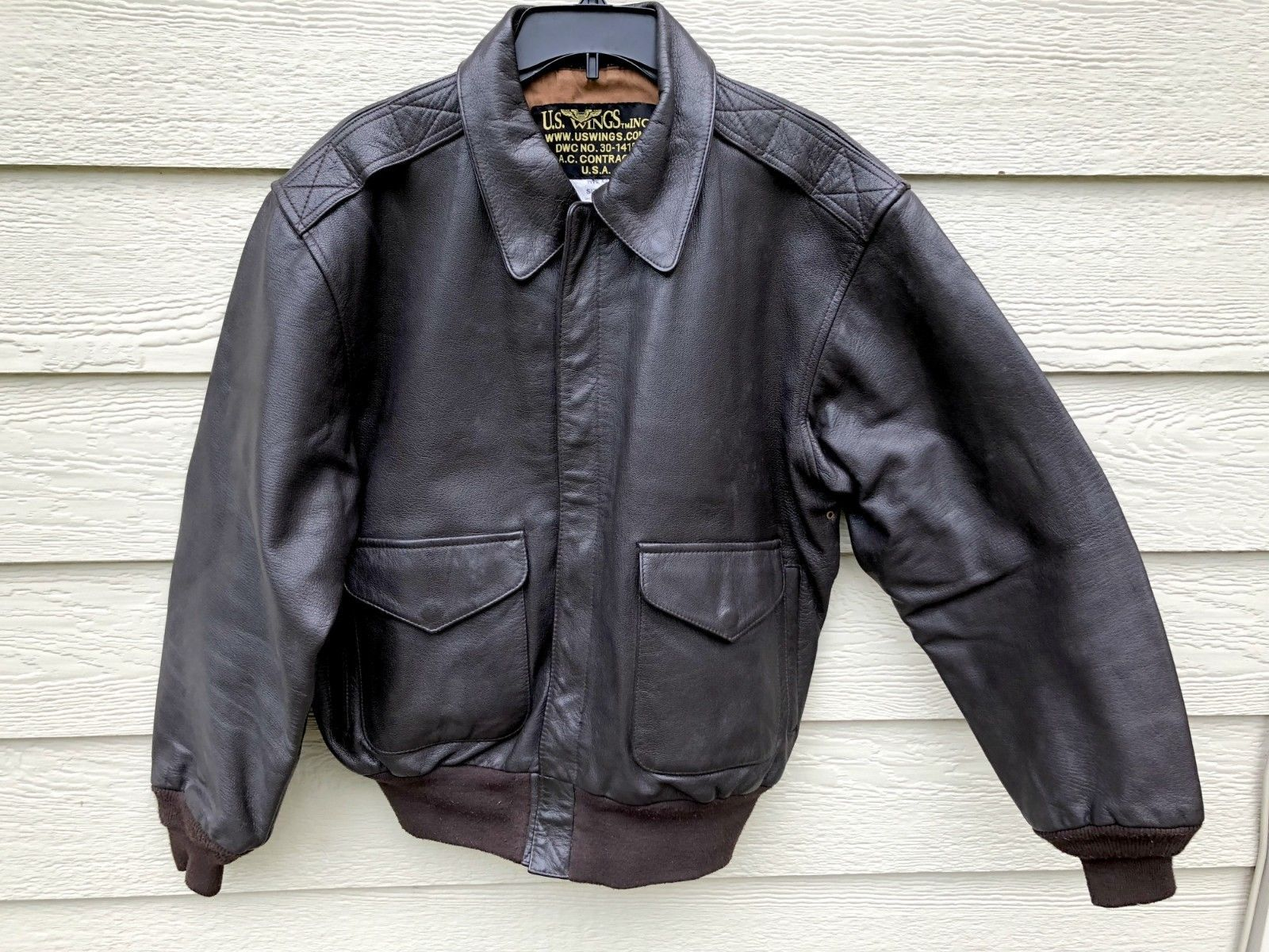 Primary image for US AIR FORCE USAF FLYERS MEN'S LEATHER BOMBER TYPE A-2 JACKET - SIZE LARGE