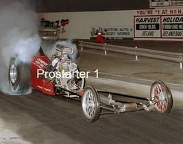 "4x6 Color Drag Racing Photo Sammy Hale ""Champion Speed Shop"" AA/FD Night Burnout - $2.75"