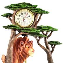 Africa Safari Lion Pride Big Cat Pendulum Mantle Desk Shelf Quartz Clock image 2