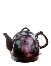 Blooming Roses Floral Electric Hot Water Kettle Tea Pot Kitchen Decor - $69.30