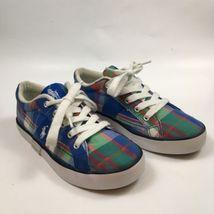 Polo By Ralph Lauren Boys Size 3 Giles Multi Colored Plaid Tennis Shoes ... - $15.80