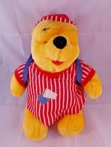 "Mattel Winnie the Pooh Plush Doll in Pajamas 14"" 1998 Sleepover Stuffed ... - $9.70"